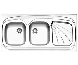 سینک استیل البرز مدل 270 روکار