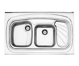 سینک استیل البرز مدل 611 روکار