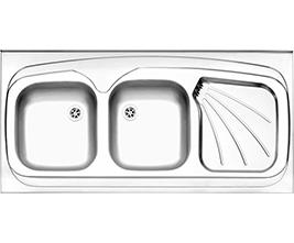 سینک استیل البرز مدل 220 روکار