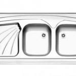 سینک روکار استیل البرز مدل 220