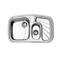 سینک استیل البرز مدل 608 توکار