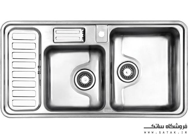 سینک 812 توکار استیل البرز