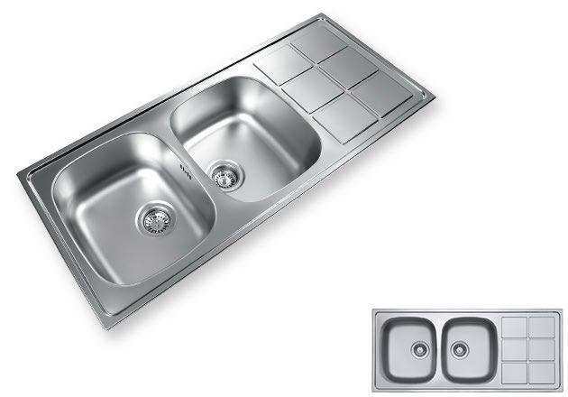 سینک ظرفشویی دو لگنه