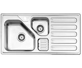 سینک استیل البرز مدل 824 توکار