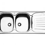 سینک توکار 120*50 ایلیا استیل مدل 2010