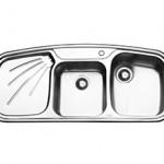 سینک توکار 116*51 ایلیا استیل مدل 2013