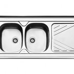 سینک روکار 120*60 ایلیا استیل مدل 1028