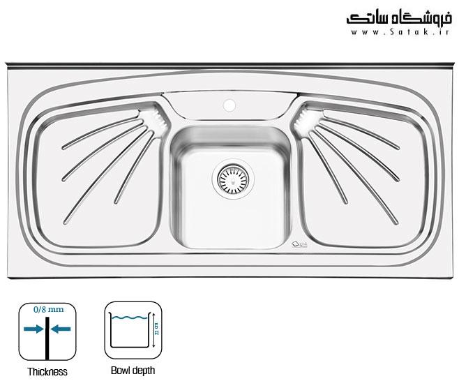 سینک ظرفشویی روکار ایلیا استیل 1011