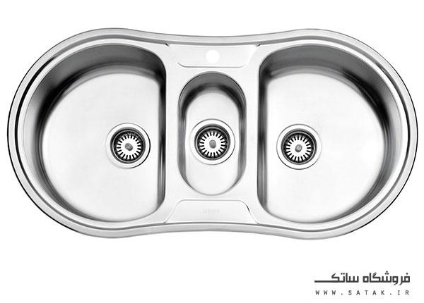 سینک توکار 720 استیل البرز