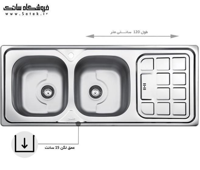 سینک ظرفشویی بیمکث مدل 511