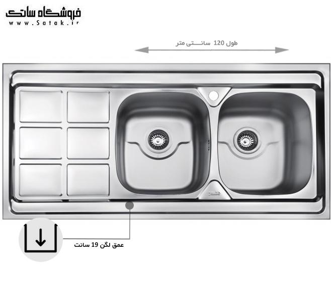 سینک ظرفشویی بیمکث مدل 914