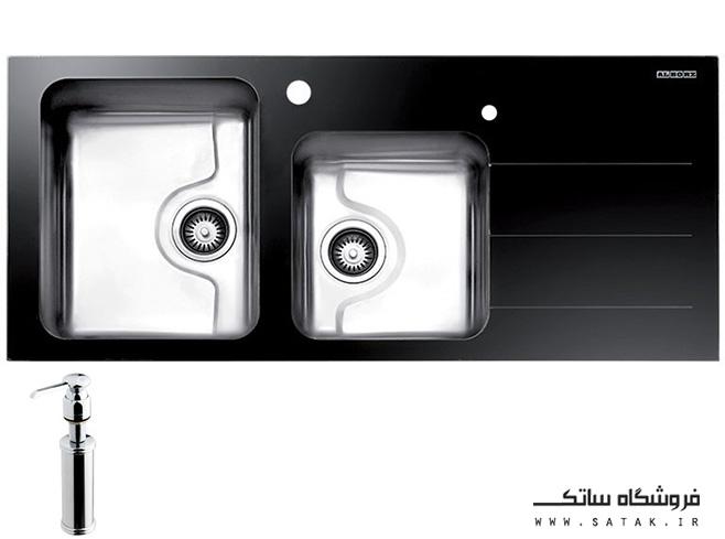 سینک کریستال مشکی استیل البرز