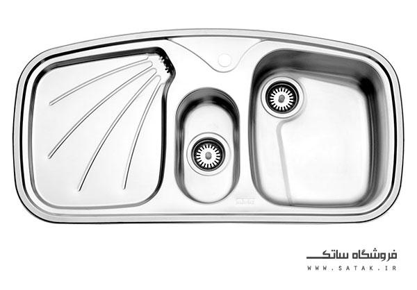 سینک 610 استیل البرز توکار