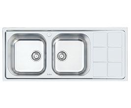 سینک ظرفشویی توکار استیل داتیس مدل D-B 128