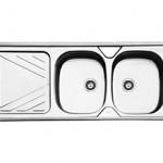 سینک توکار ایلیا استیل مدل 2028 سایز 120 * 50