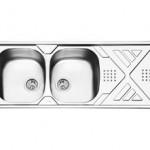 سینک توکار ایلیا استیل مدل 2040 سایز 120 * 50