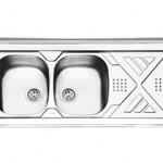 سینک روکار ایلیا استیل مدل 1040 سایز ۱۲۰*۶۰