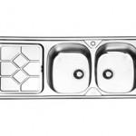 سینک توکار ایلیا استیل مدل 2031 سایز ۱۲۰ * ۵۰