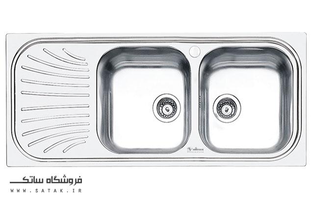 سینک ظرفشویی توکار استیل داتیس مدل D-B 126