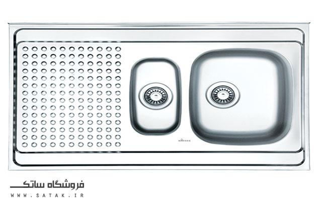 سینک ظرفشویی روکار استیل داتیس مدل D-A 122