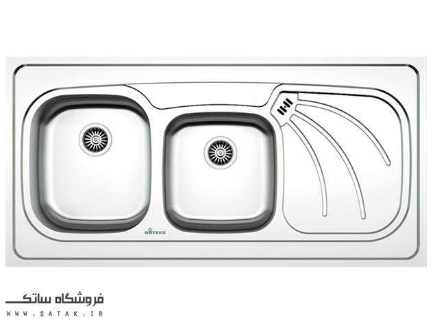 سینک ظرفشویی روکار استیل داتیس مدل D-A 133