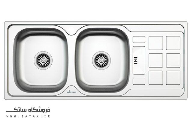 سینک ظرفشویی توکار استیل داتیس مدل D-B 134
