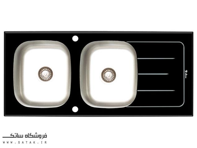 سینک شیشه ای خط دار داتیس مدل DSG 119