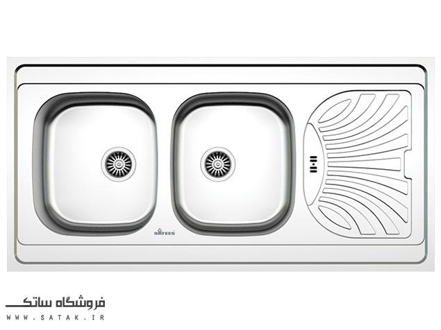 سینک ظرفشویی روکار استیل داتیس مدل D-A 132