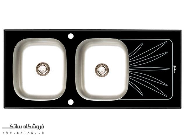 سینک ظرفشویی شیشه ای توکار داتیس مدل DSG 124