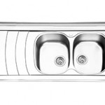 سینک روکار ایلیا استیل مدل 1044 سایز ۱۲۰*۶۰