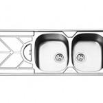 سینک توکار ایلیا استیل مدل 2045 سایز ۱۲۰ * ۵۰