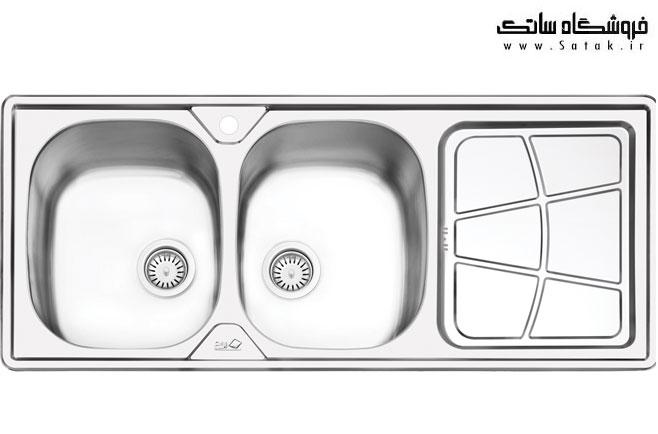 سینک ظرفشویی ایلیا استیل 2030
