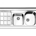 سینک روکار ایلیا استیل مدل 1039 سایز 120*60