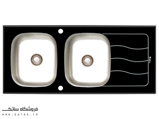 سینک ظرفشویی شیشه ای داتیس مدلDSG 122