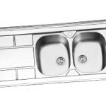 سینک ظرفشویی درسا روکار مدل DS 324