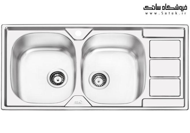 سینک ظرفشویی ایلیا استیل 2051