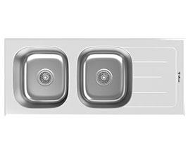 سینک داتیس شیشه ای سفید مدل 119 SDG