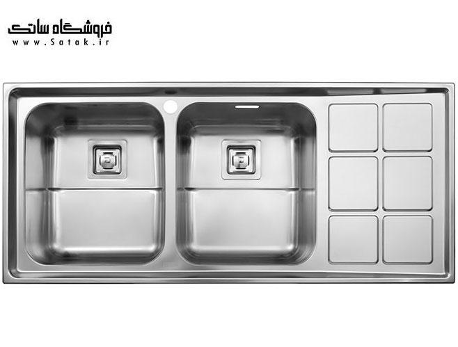 سینک استیل البرز مدل 761 توکار