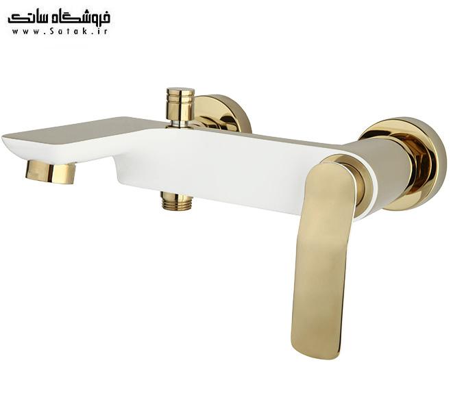 شیر حمام ویولت سفید طلایی راسان