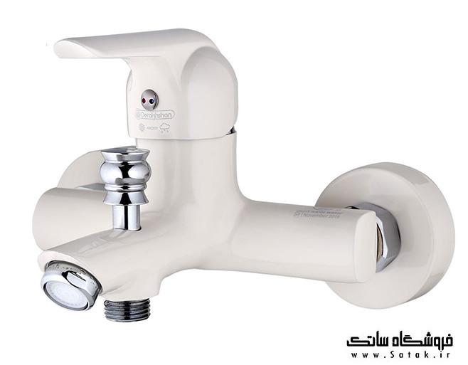 شیر حمام درخشان مدل کاج وایت
