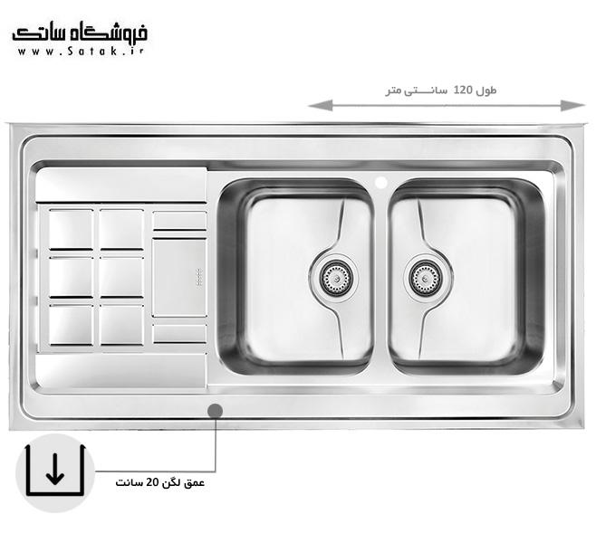 سینک ظرفشویی 9022 کن