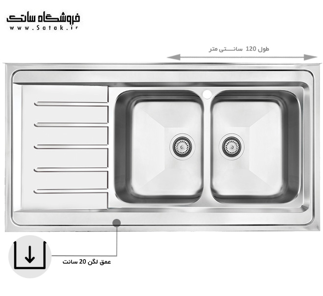 سینک کن 9072 روکار