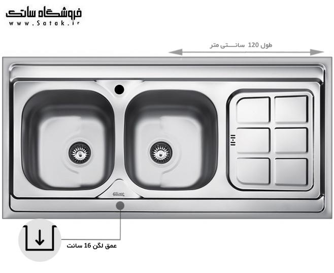 سینک ظرفشویی بیمکث مدل 522