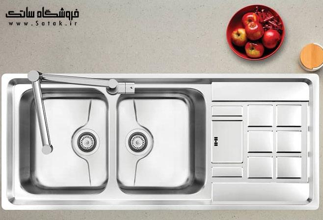 سینک ظرفشویی کن مدل 8022 توکار