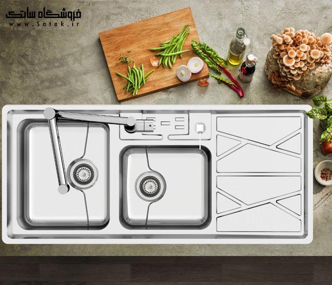 سینک ظرفشویی کن مدل 8041 توکار