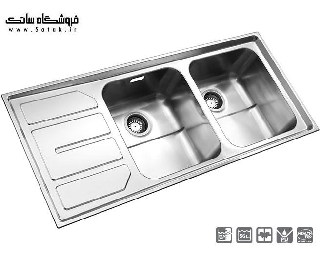 سینک ظرفشویی استیل البرز توکار 763