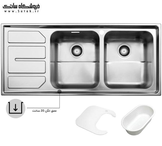 سینک ظرفشویی استیل البرز 763 توکار