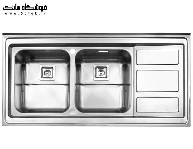 سینک استیل البرز مدل 765 روکار