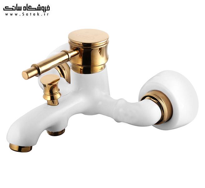 شیر حمام رافائل سفید طلایی