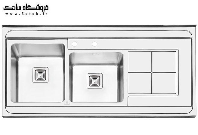 سینک ظرفشویی پرنیان استیل 1113 روکار